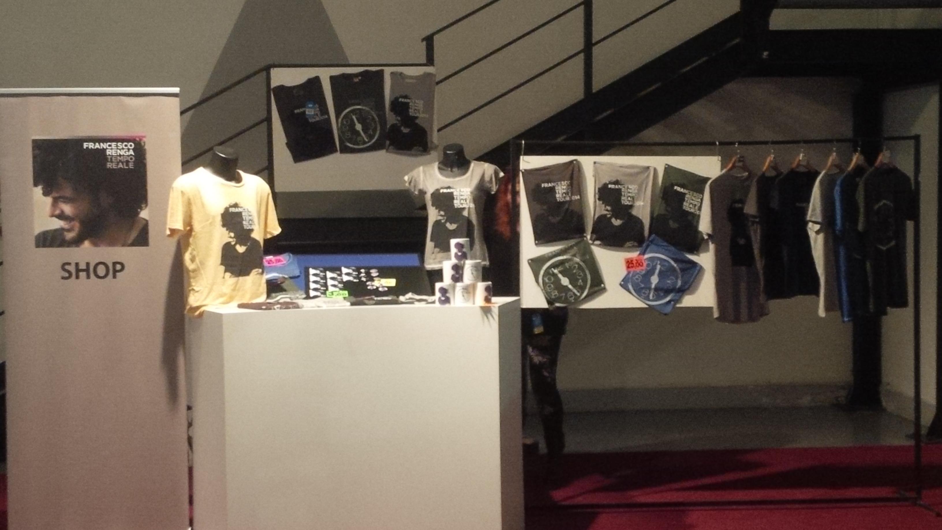 merchandising ufficiale francesco renga tempo reale tour