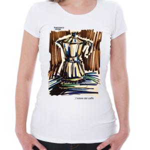 """T-shirt """"l'odore Del Caffè"""" Donna"""